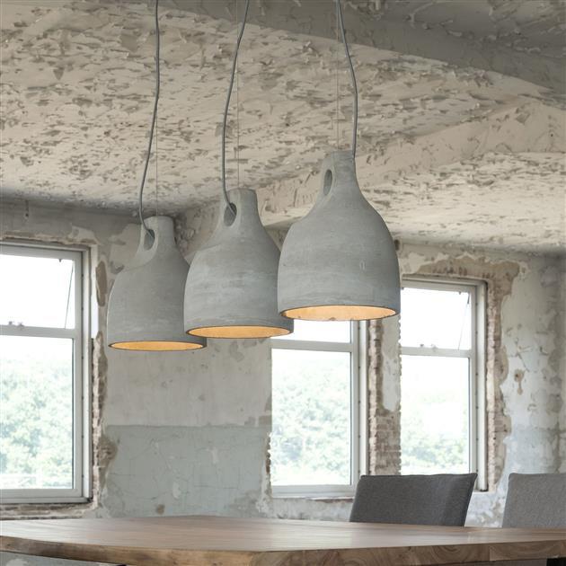 set-of-3-grey-concrete-bell-pendant-ceiling-lamps-cae60ccf-12c1-4a83-a3ca-22544b54d042