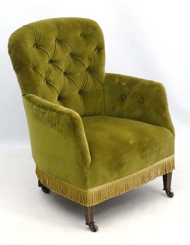 antique-victorian-button-back-tub-armchair-in-pretty-shape-for-upholstery-project-the-shabby-chic-shac