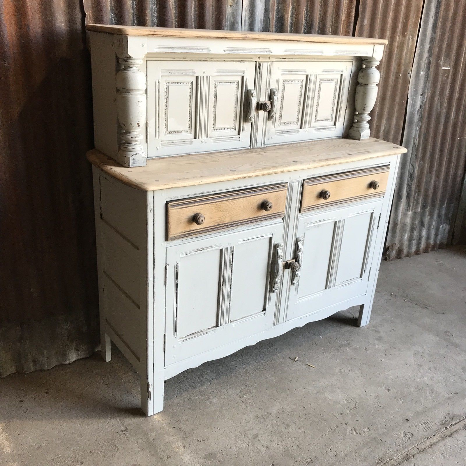 ercol-elm-court-cupboard-buffet-welsh-dresser-painted-country-chic-farmhouse