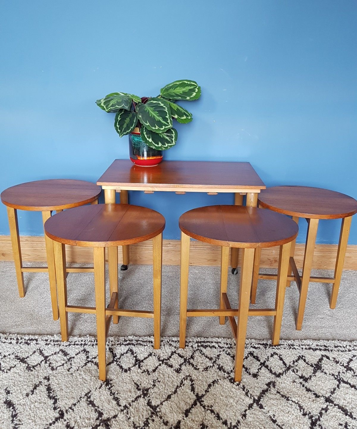 mid-century-retro-poul-hundevad-set-of-5-nesting-side-tables-space-saver-teak