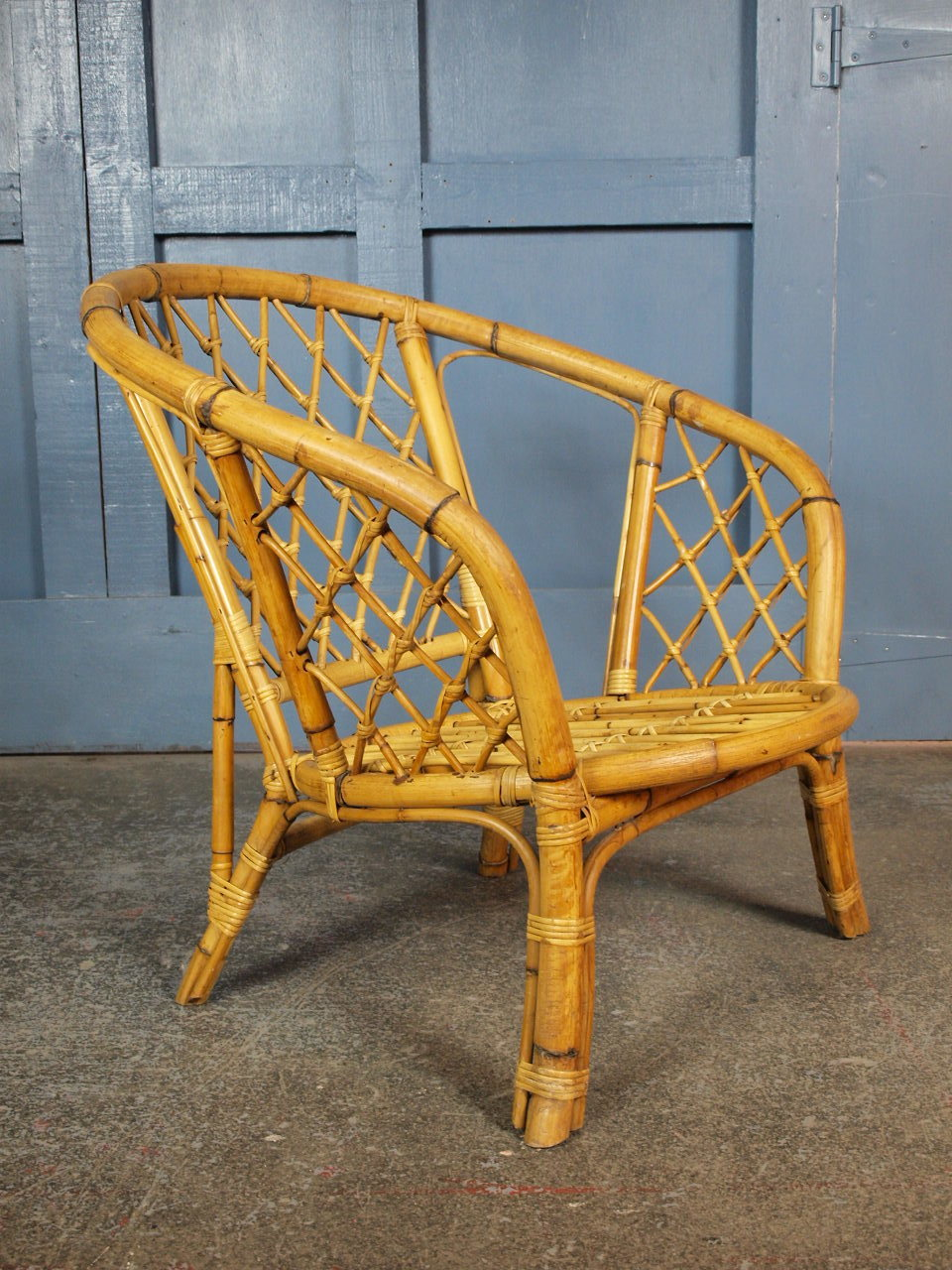 mid-century-vintage-1960s-70s-tiki-boho-bamboo-cane-armchair