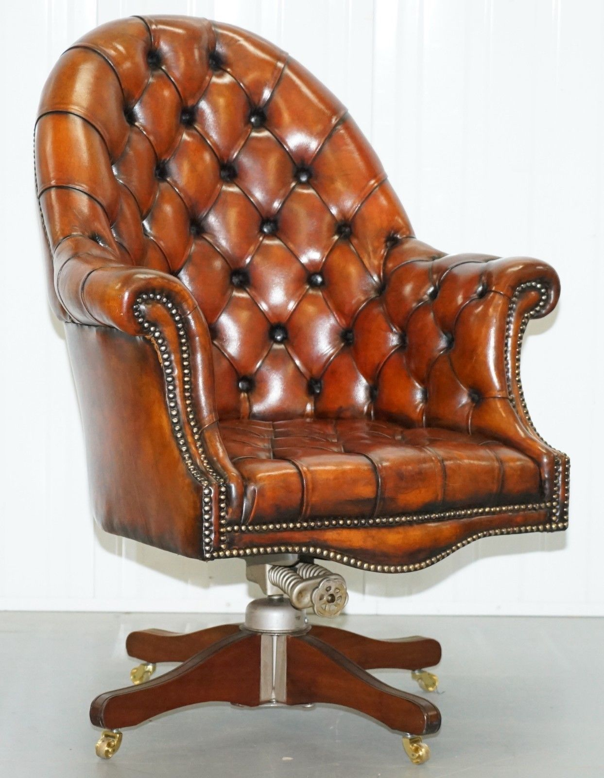 restored-1920-s-hillcrest-chesterfield-brown-leather-directors-captains-chair copy