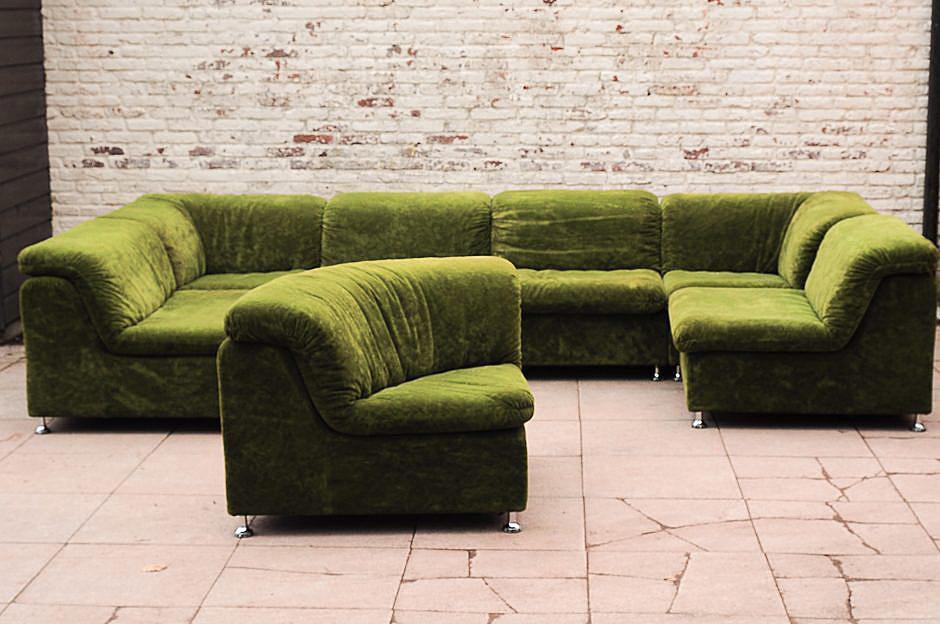 vintage-green-velvet-modular-sofa-1970s