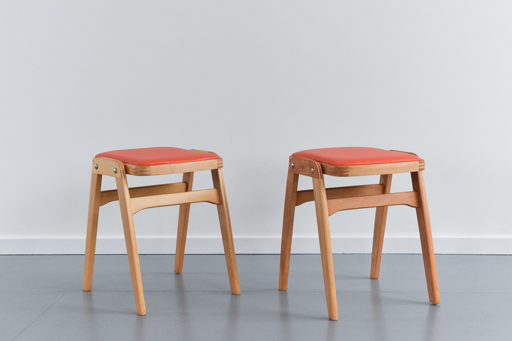 vintage-pair-of-1960s-wooden-stackable-stools-covered-in-orange-vinyl