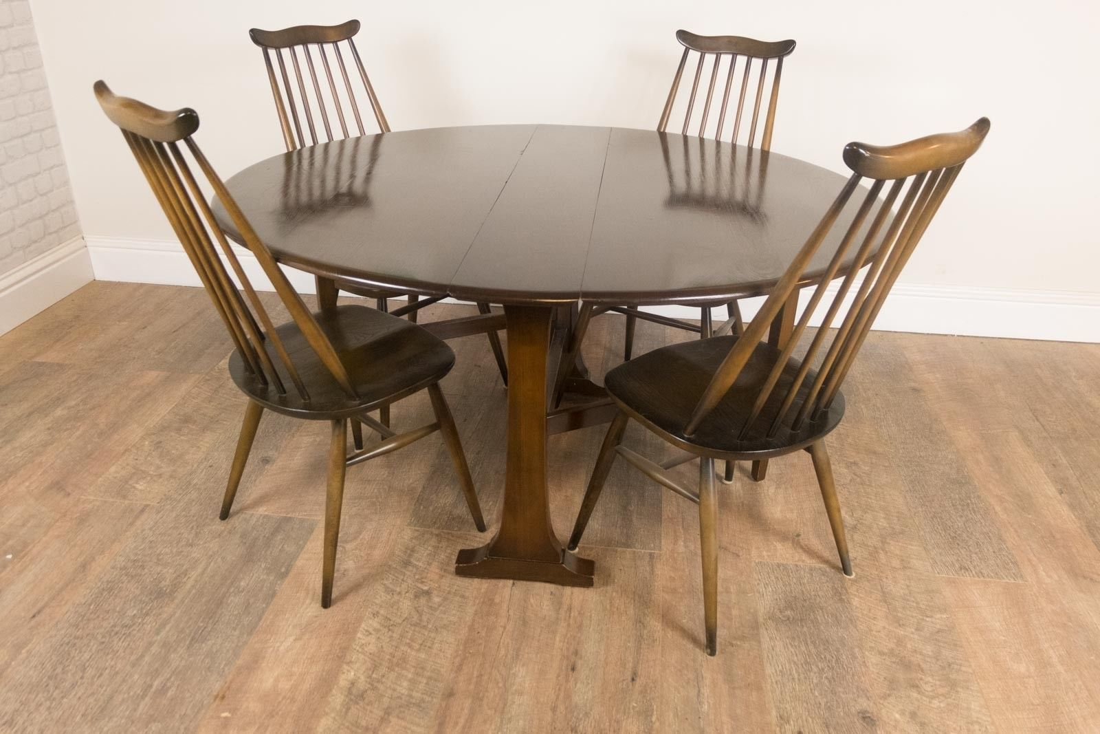 vintage-retro-ercol-dark-elm-drop-leaf-table-and-4-golden-dawn-goldsmith-chairs