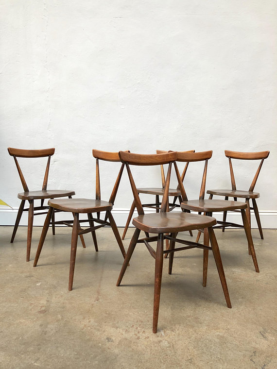 vintage-set-6-of-ercol-adult-size-stacking-dining-chairs-retro-mid-century-g-plan