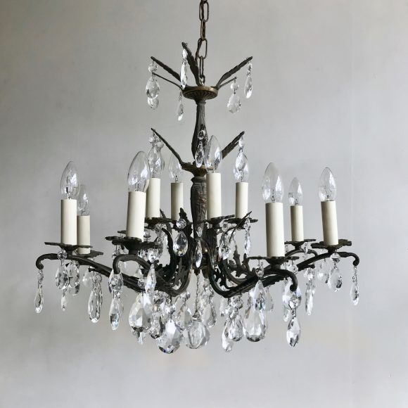 pair-of-ornate-chandeliers-with-glass-and-crystal-pears