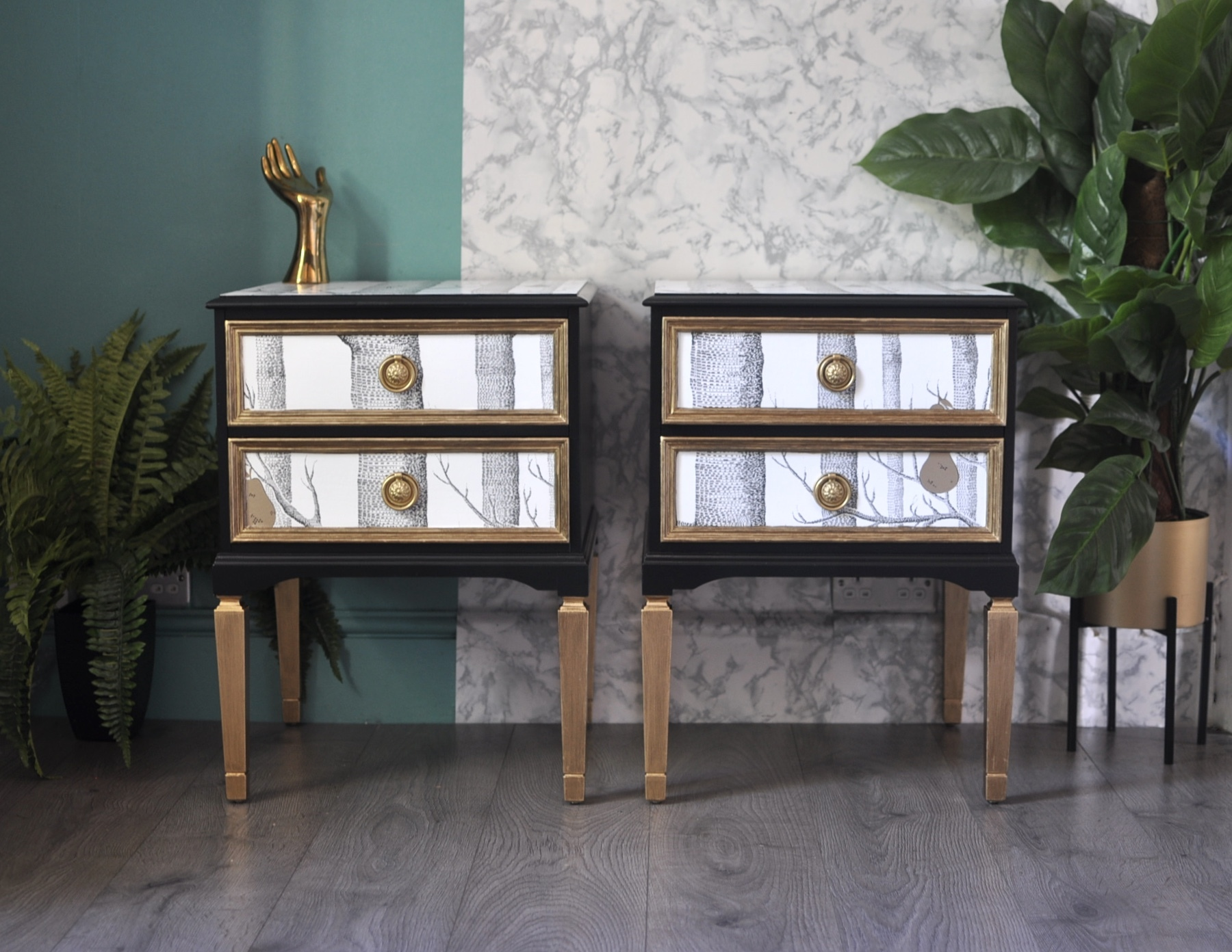 pair-of-upcycled-vintage-wooden-side-tables-retro-bedside-cabinets-cole-and-sons-woods-and-pears-decoupage.jpg