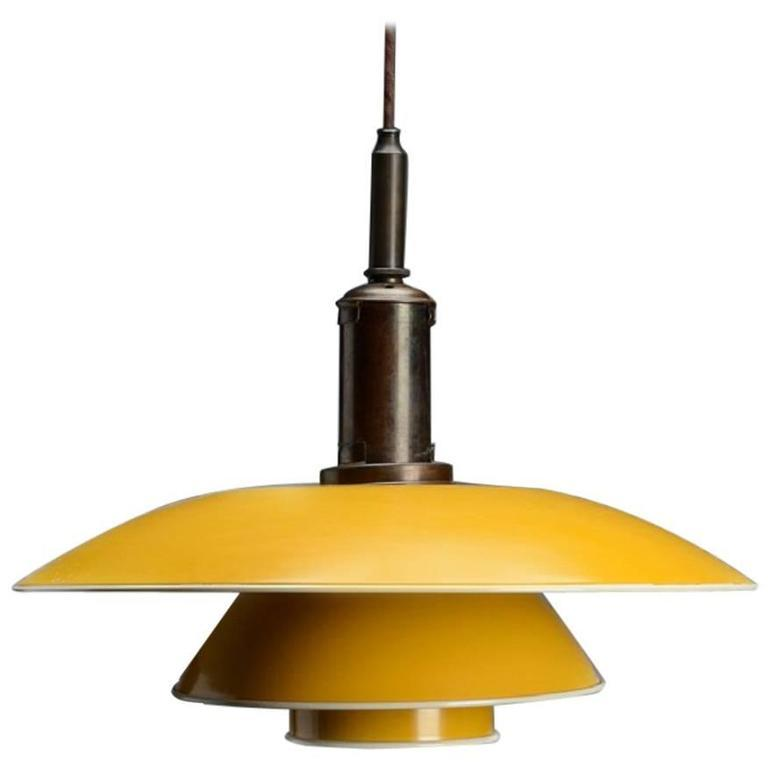 poul-henningsen-ph-4-4-pendant-lamp-with-shade-yellow-painted-metal-1940s