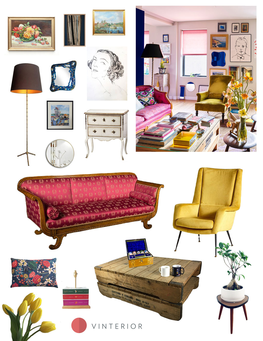Get the Look: Maximalist Living room Designed for Happiness - Vinterior
