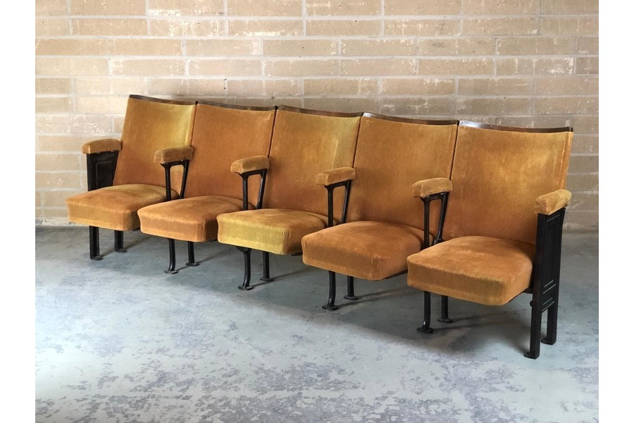 cinema seats vintage velvet hallway furniture