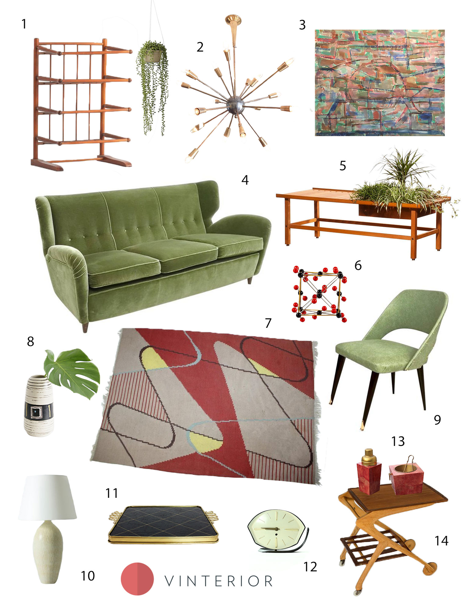 Get the Look: This 1950s Living Room is Designed for Leisure