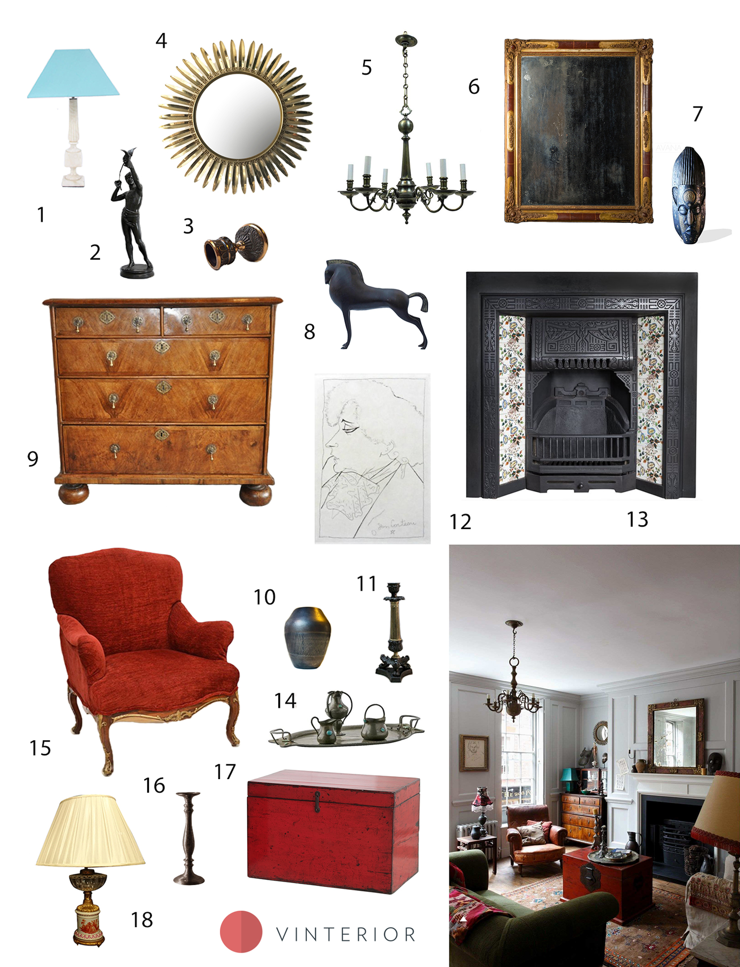 Get the look of this timeless living room with a global touch - Vinterior