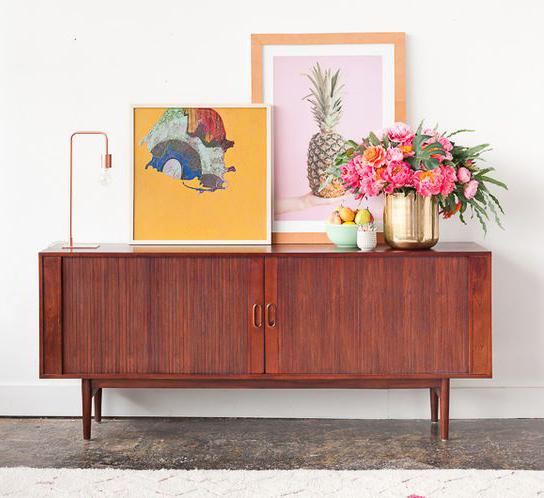 rosewood vintage mid century sideboard